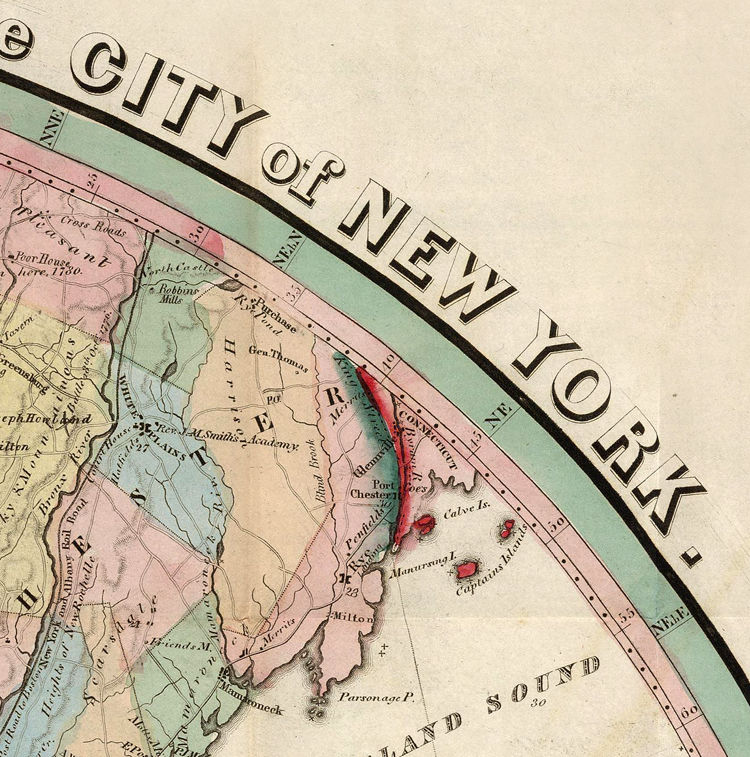 Old Map of New York and Environs 1839 - product image