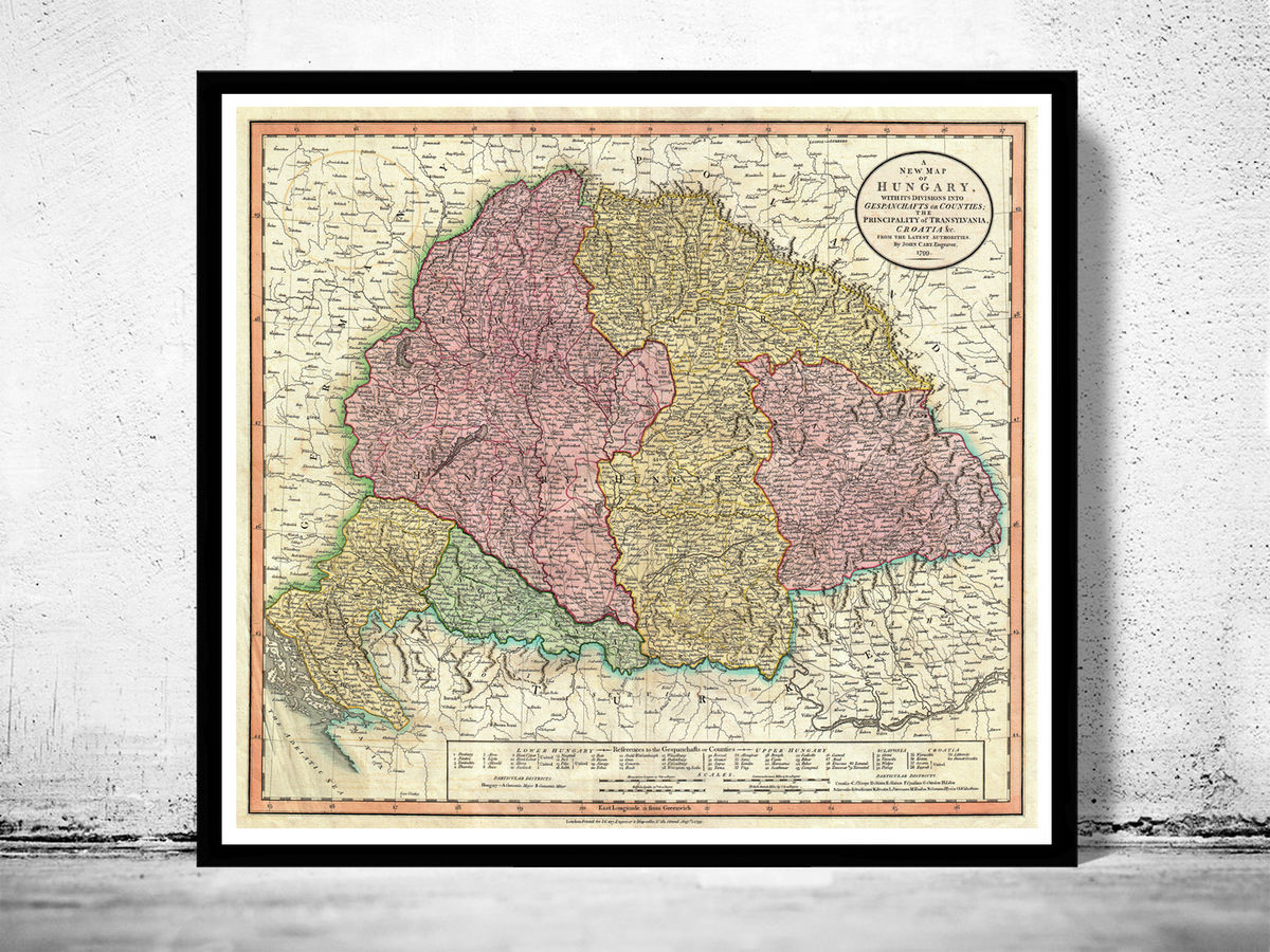 Old Map of Hungary 1799 - product images  of