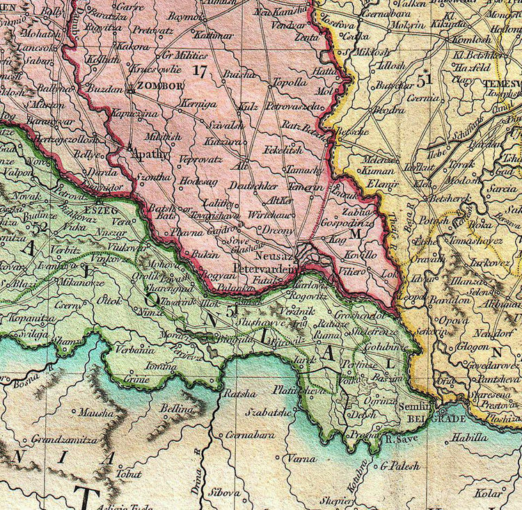 Old Map of Hungary 1799 - product image