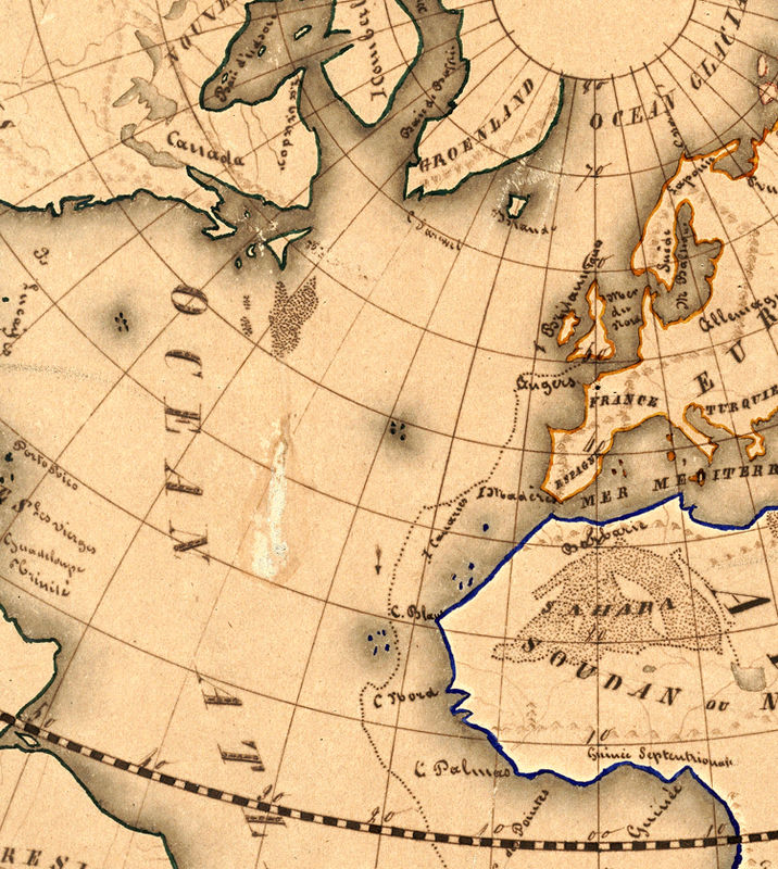 Old World Map antique 1839 - product image