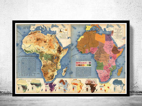 Africa,in,Maps,1941,Art,Reproduction,Open_Edition,atlas,Angola,old_map_of_africa,africa_map,vintage_map_africa,antique_africa_map,map_of_africa,antique africa,vintage africa,wall decor africa,africa decor,wall map africa