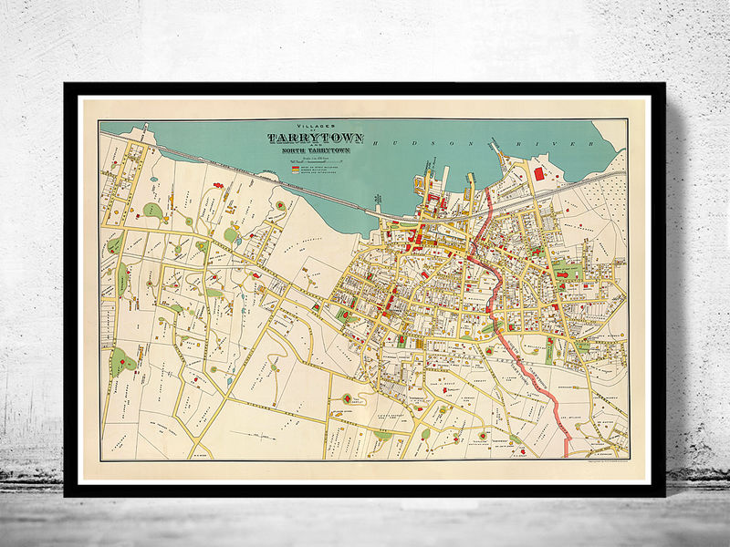 Old Map of Tarrytown New York 1893 - product image