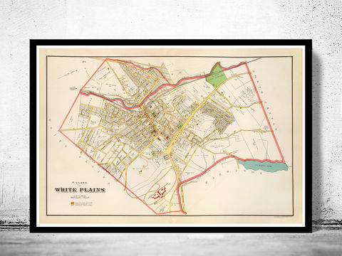 Old,Map,of,White,Plains,New,York,1893,white plains, white plains map, white plains new york, white plains ny, white plains poster, white plains print, white plains plan, map of white plains
