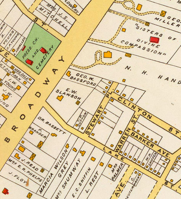Old Map of White Plains New York 1893 - product image