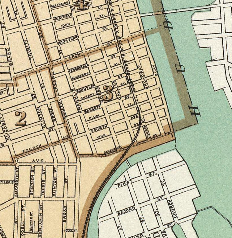 Old Map of Albany New York 1895 - product image
