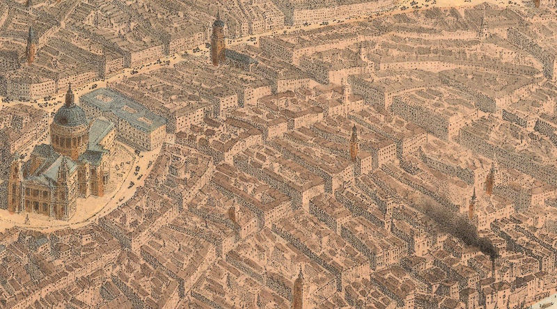 Old Panoramic View of London 1896 - product image