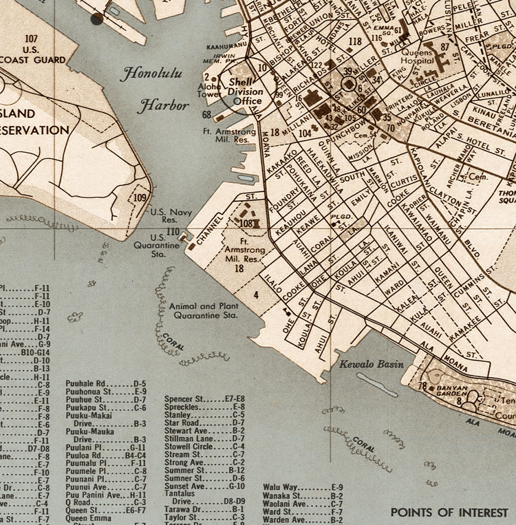 Old Map of Honolulu Hawaii - product images  of