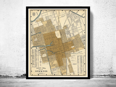 Old,Map,of,Stockton,California,1938,map of stockton, stockton california, stockton ca, stockton map, stockton poster, stockton ca map