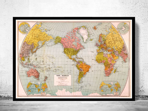 Beautiful,World,Map,Vintage,Atlas,1932,Mercator,projection,Art,Reproduction,Open_Edition,World_map,old_map,antique,atlas,discoveries,explorations,vintage_poster,city_plan,earth_atlas,map_of_the_world,world_map_poster,old_world,vintage_world_map