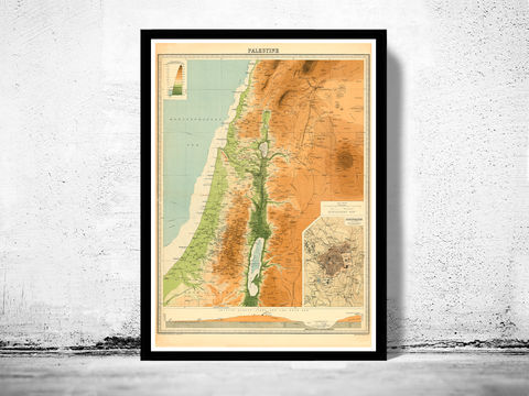 Old,Map,of,Palestine,1920,map of palestine, palestine map, Art,Reproduction,Open_Edition,vintage,ancient,old_map,Israel,Jesus,Middle_East,Religious,Thematic,nazareth,judea,samaria