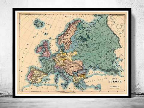 Old,Map,of,Europe,1884,map of europe, europe, europe map, old map, vintage map, antique map, old europe maps, antique maps of europe