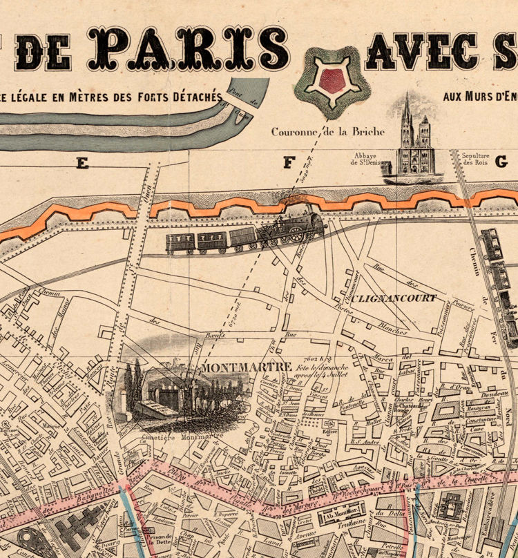Old Map of Paris France 1855 - product images  of