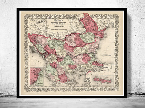 Old,Map,of,Turkey,1865,Vintage,map,turkey map, map of turkey , turkey poster, turkish art, vintage map, old map, antique map, maps and prints