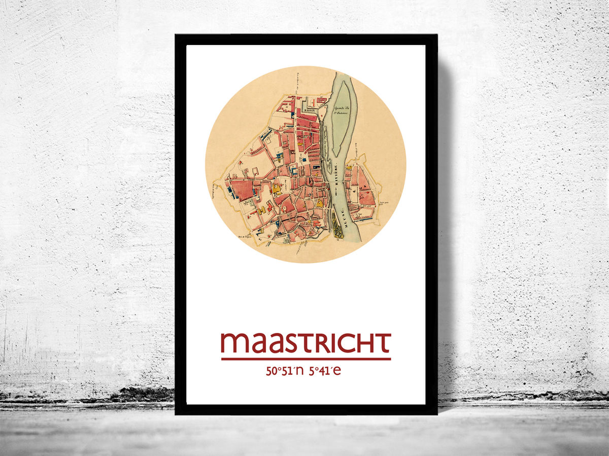 MAASTRICHT - city poster - city map poster print - product images  of