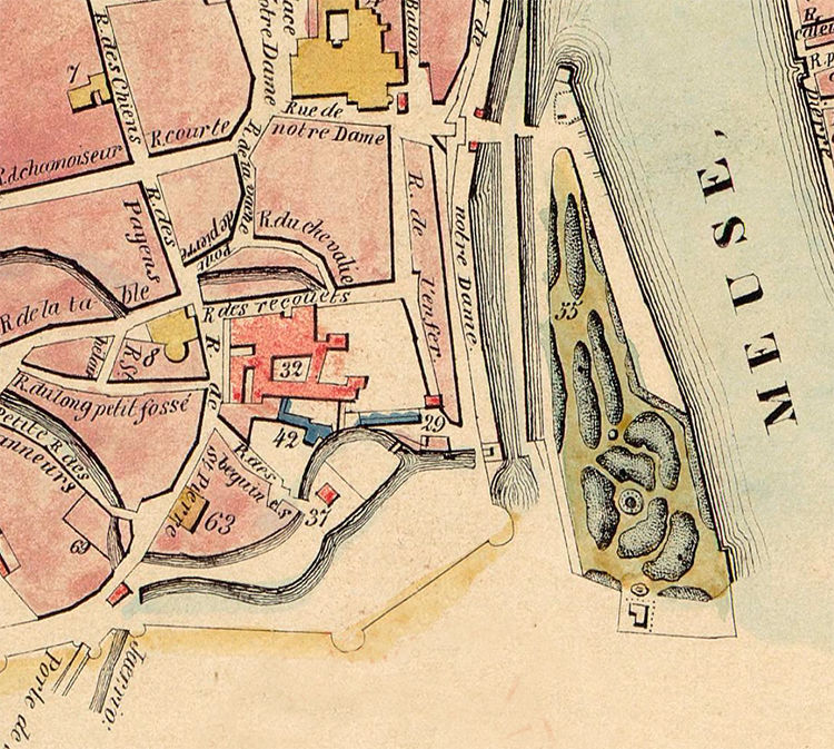 Old Map of Maastricht Netherlands 1860  - product image