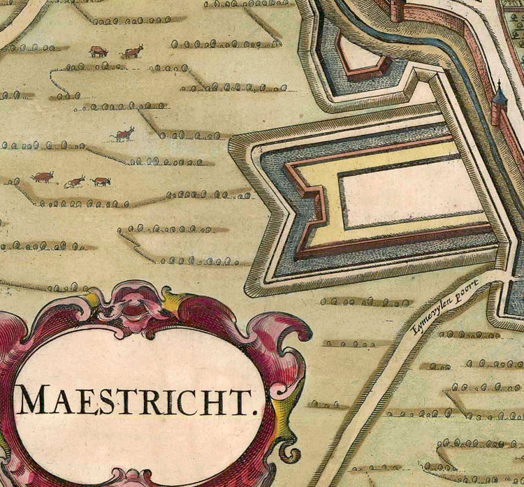 Old Map of Maastricht Netherlands 1657 - product images  of