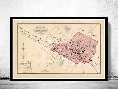 Old,Map,of,Charlottesville,Virginia,1877,charlottesville, charlottesville map, charlottesville va, charlottesville print, charlottesville city, charlottesville poster