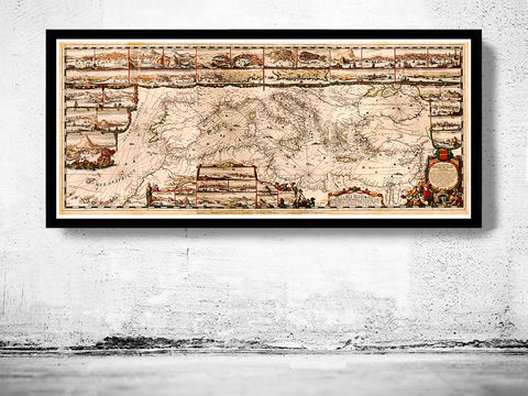 Old,Map,of,Mediterranean,Sea,1693,italy,italie,mediterranean_sea,Vintage_map,vintage_poster,old_map,antique map, mediterranean sea,old_map_of_italy,antique_map_italy,map_poster, mediterranean map