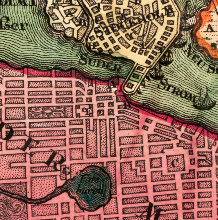 Old Map of Stockholm Sweden 1735 - product images  of