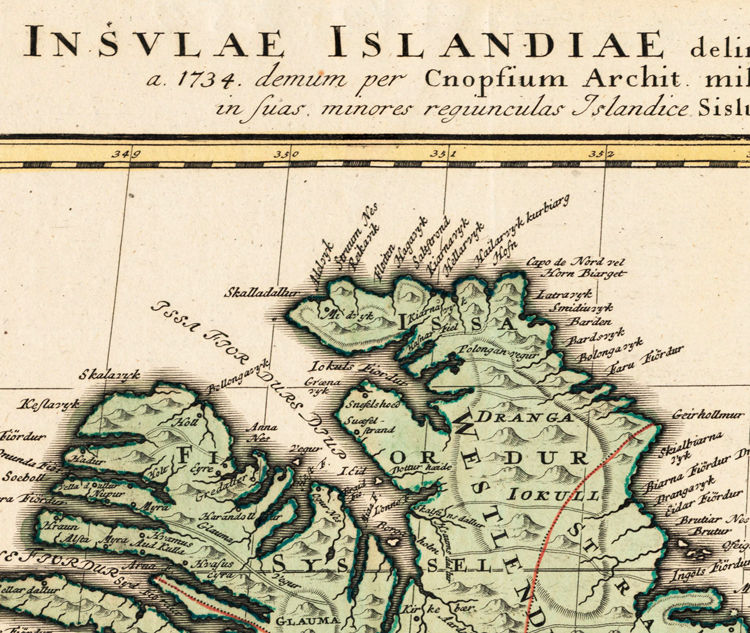 Old Map of Iceland islandia 1761 Vintage map - product images  of