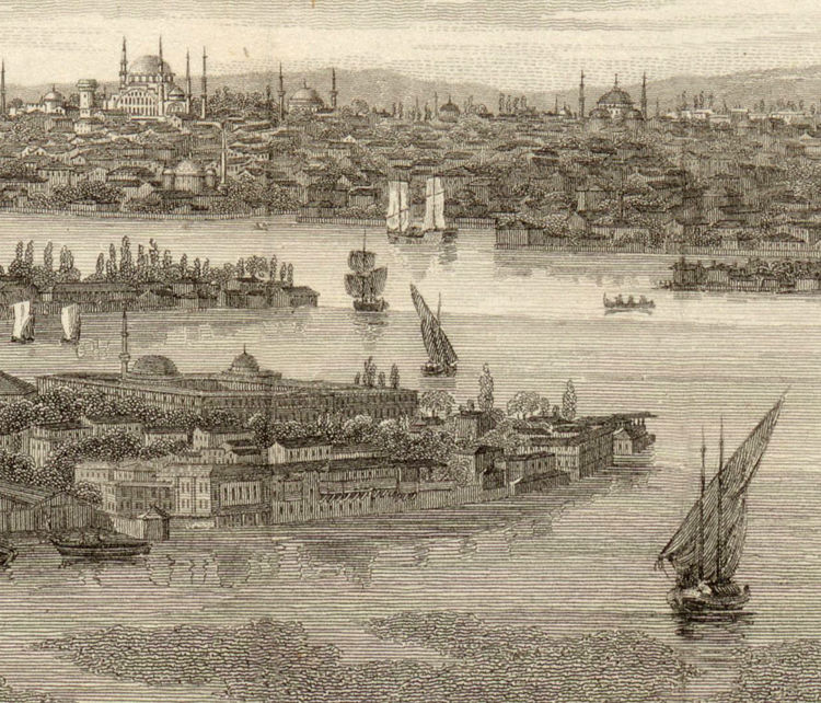 Old Constantinople Istanbul Panoramic View 1811 - product images  of