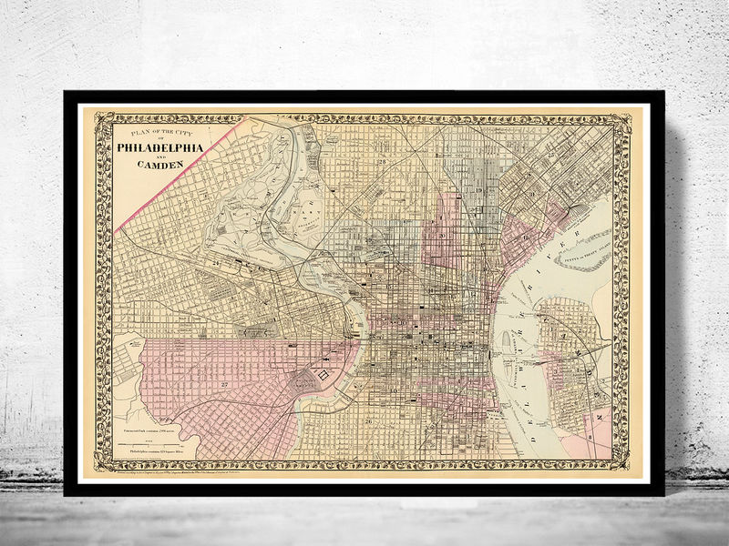 Old Map of Philadelphia 1880 - product image