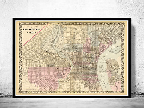 Old,Map,of,Philadelphia,1880,Art,Reproduction,Open_Edition,vintage,plan,illustration,philadelphia,United_States,USA,city_map,city_plan,1777,old_map,vintage_poster