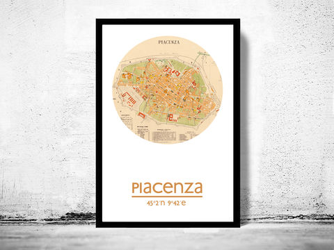 PIACENZA,-,city,poster,map,print, PIACENZA print, PIACENZA poster, PIACENZA Poster, italian art, PIACENZA city, PIACENZA map, wall decor, city,maps, travel poster