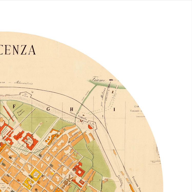PIACENZA - city poster - city map poster print - product images  of