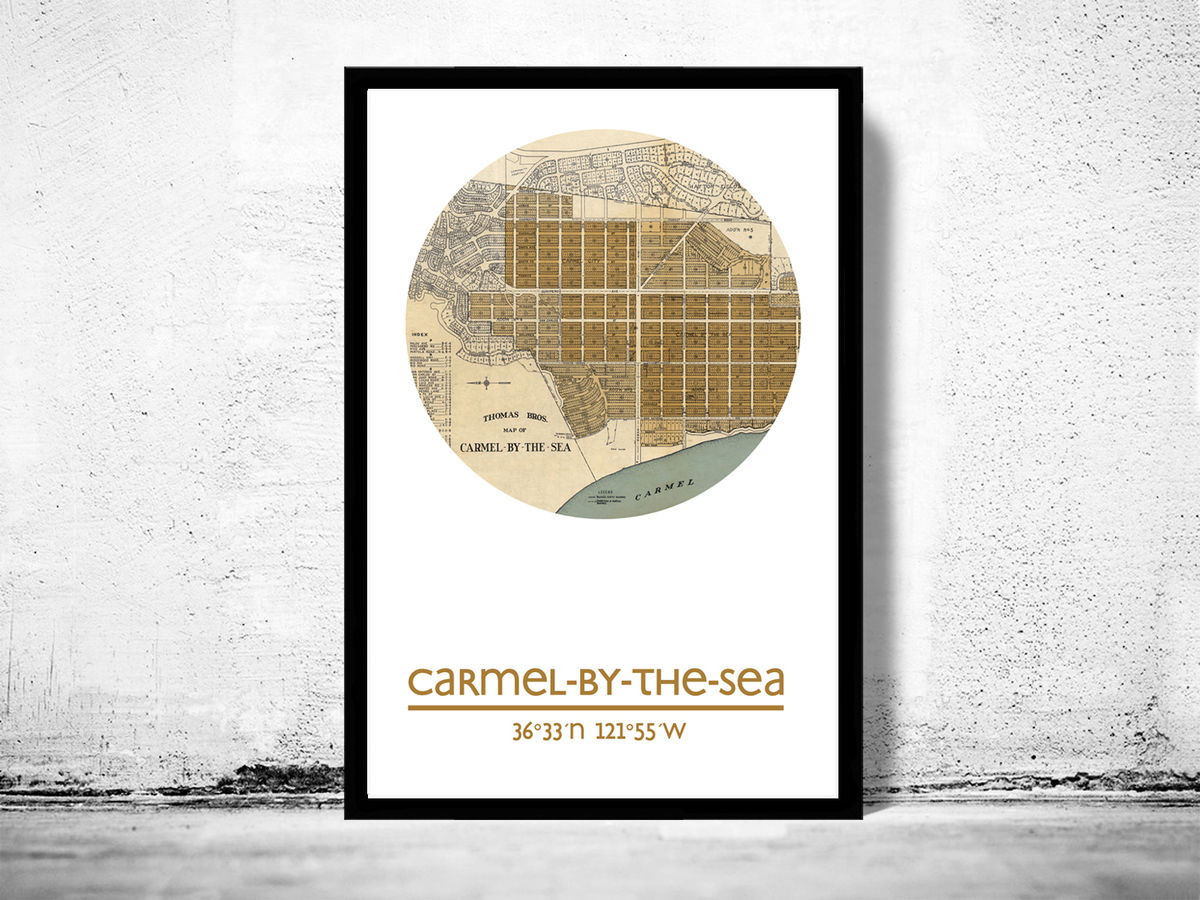 CARMEL BY THE SEA CA - city poster - city map poster print - product images  of