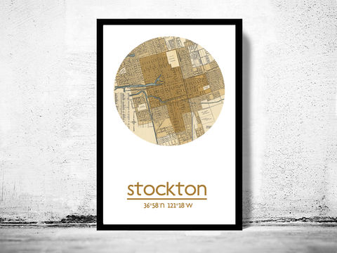 STOCKTON,CA,-,city,poster,map,print, STOCKTON print,STOCKTON CA poster, STOCKTON Poster,STOCKTON CA, STOCKTON map, wall decor, city,maps, travel poster