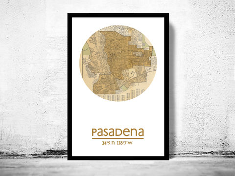 PASADENA,CA,-,city,poster,map,print,PASADENA print,PASADENA CA poster, PASADENA Poster,PASADENA CA, PASADENA map, wall decor, city,maps, travel poster