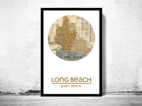 LONG,BEACH,CA,-,city,poster,map,print, LONG BEACH print,LONG BEACH CA poster, LONG BEACH Poster,LONG BEACH CA, LONG BEACH map, wall decor, city,maps, travel poster