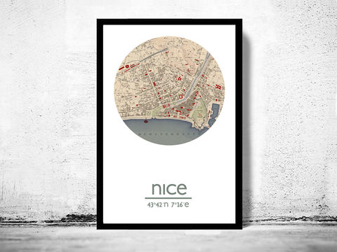 NICE,-,city,poster,map,print, NICE print, NICEposter, NICE Poster, french art, NICE city, NICE map, wall decor, city,maps, travel poster