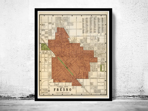 Old,Map,of,Fresno,California,1920,map of fresno, old map of fresno california, fresno map, Art,Reproduction,Open_Edition,United_States,panoramic_view,gravure,urban,birdseye,vintage_map,fresno,california,old_map,vintage_poster,city_plan,old_gravure