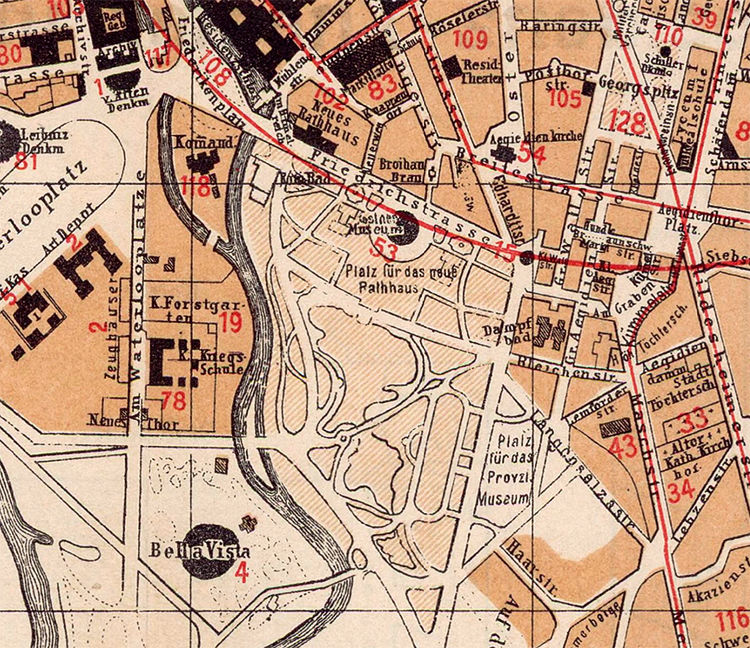 Old Map of Hanover Germany 1890 Hannover - product image