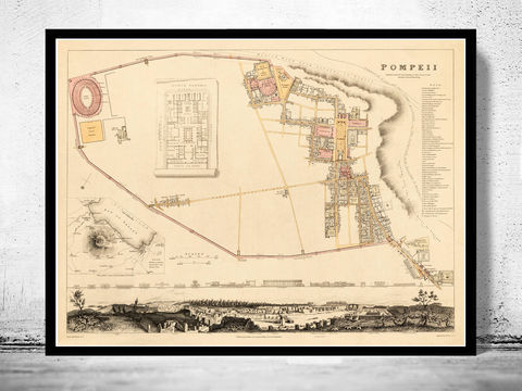 Old,Map,of,Pompeii,1832,old map of pompeii,pompeii,Art,Reproduction,Open_Edition,city_map,retro,antique,Europe,italy,italia,napoli,neapel,old_map,city_plan,vintage_poster,vintage_map,napli, napoli map, map of napoli, napoli italy, pompeii, pompeii italy, map of pompeii, old map