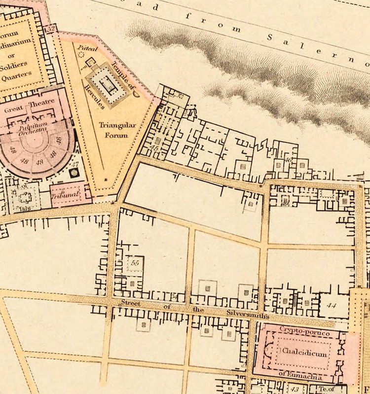 Old Map of Pompeii 1832  - product images  of