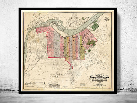 Old,Map,of,Louisville,Kentucky,1898,louisville, map of louisville, louisville city, louisville map,louisville kentucky, panoramic view, birdseye, maps and prints, old map, louisville poster