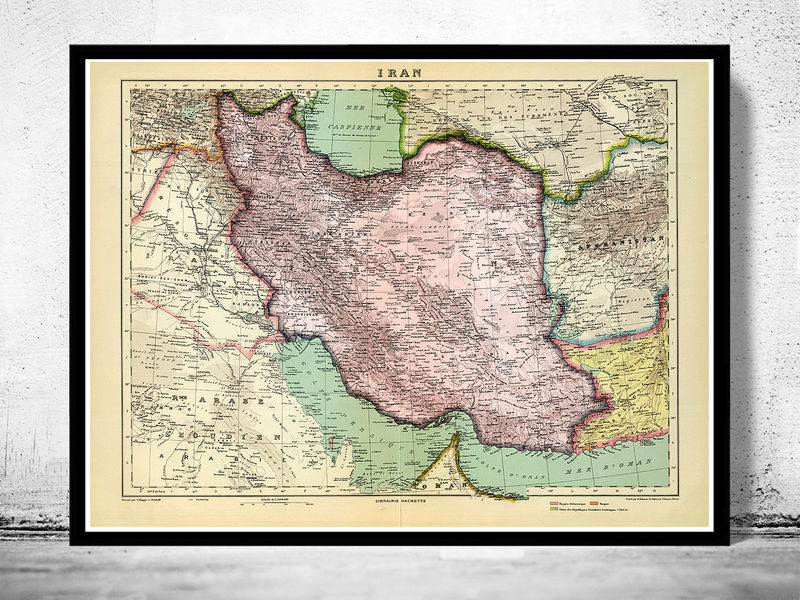 Old Map of Iran 1931 - product image