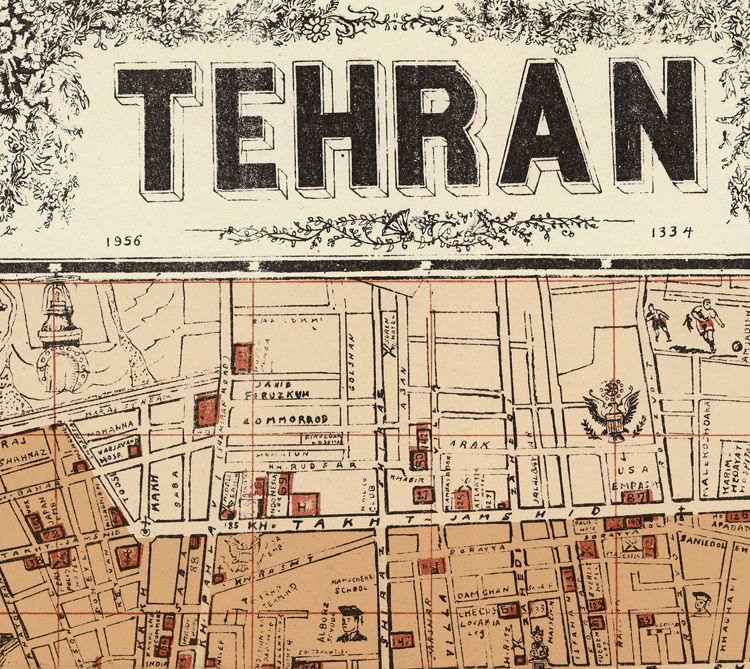 Old Map of Tehran Iran  - product images  of