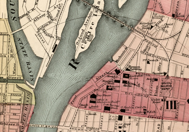 Old Map of Troy New York 1877 - product image