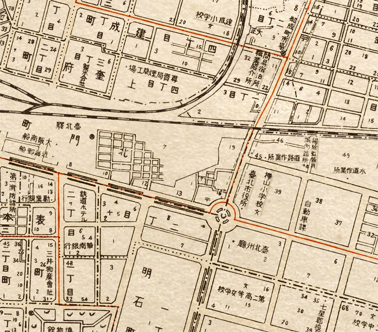 Old Map of Taipei Taiwan 1932 - product image
