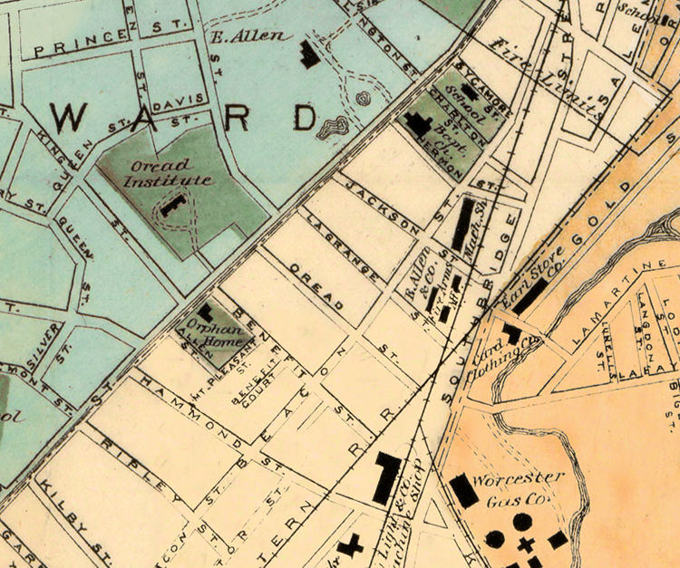 Old Map of Worcester Massachusetts 1877 - product image