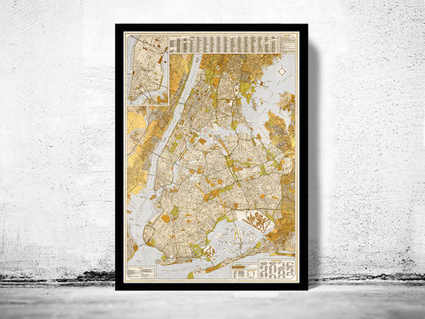Old,Map,of,New,York,and,Manhattan,, Manhattan  , new york  , old map , vintage map  × new york map  × manhattan map × antique map  × new york poster  , manhattan poster , brooklyn vintage  , brooklyn map  , ny map, new york poster, ny poster, map of new york, new york map