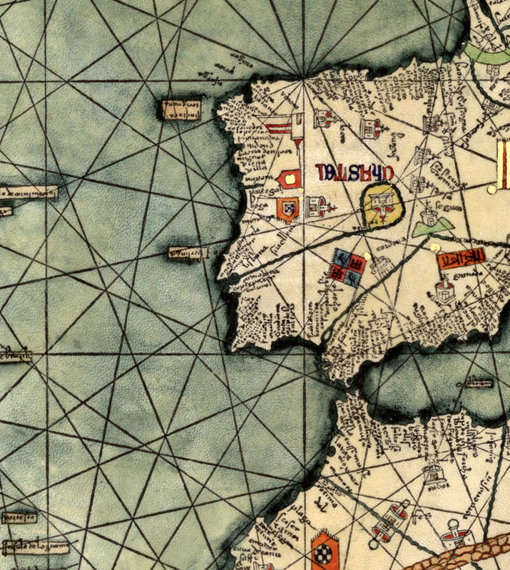 Old World Map 1375 Europe, Mediterranean Sea and Middle East - product image