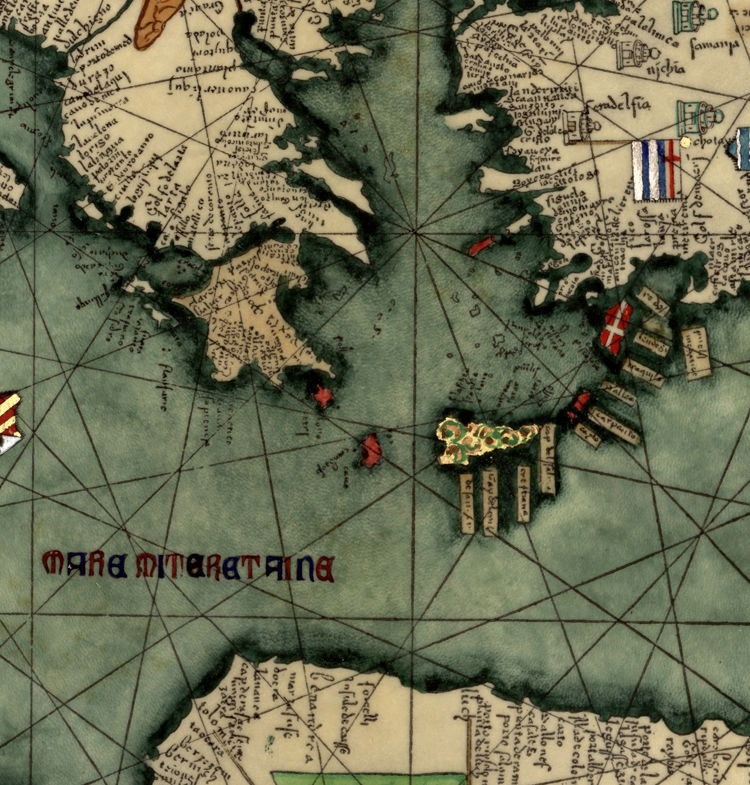 Old Catalan Atlas 1375 Europe Mediterranean Sea and Middle East - product images  of