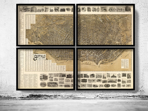 Old,Panoramic,View,of,Buffalo,NY,1902,-,4,PIECES,Art,Reproduction,Open_Edition,United_States,new_york,old_map,vintage_map,antique_map,new_york_poster,manhattan_poster,ny_map,buffalo,buffalo_map,buffalo_ny,map_of_buffalo,buffalo_poster, bufallo ny gift, buffalo city plan, buffalo street map