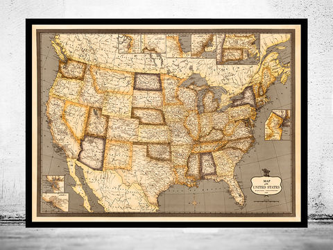 Old,Map,of,United,States,America,united states map, united states poster, united states of america, USA map, map of US, map of United states