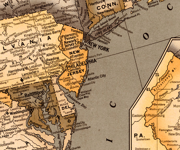 Old Map of United States America  - product images  of